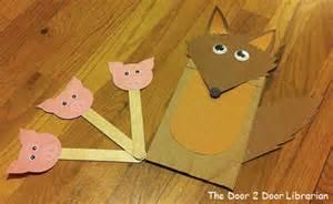 paper bag puppets the door 2 door librarian