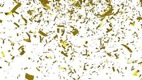 Popper Falling Gold 50cm falling golden confetti on black background hq seamless looping animation with alpha channel