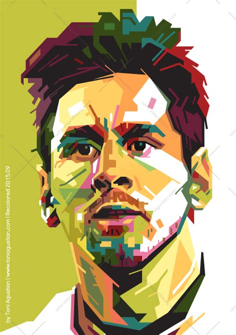 Football Artwork Messi 1 lionel messi in wpap pop a size poster green