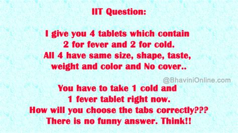 And Question On Whatsapp Iit Question How Will You Choose The Correct Tablets