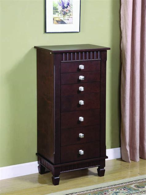 jewelry armoire contemporary powell contemporary merlot jewelry armoire pw 383 316 at
