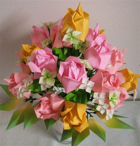 Origami Paper Substitute - washinoya origami easter roses by washinoya via flickr