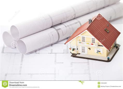 new model house plans new model house on architecture blueprint plan stock image image 21844261