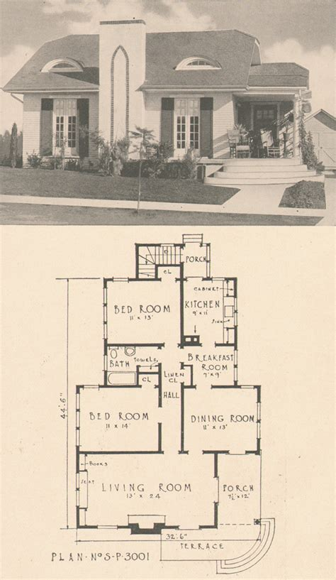 1920s house plans by the southern pine association small