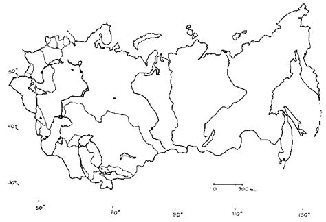 Outline Map Of Russia And Northern Eurasia by Soviet Blank Map F