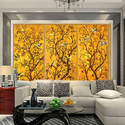 vintage wallpaper custom 3d wall murals bird flower painting photo wallpaper bedroom