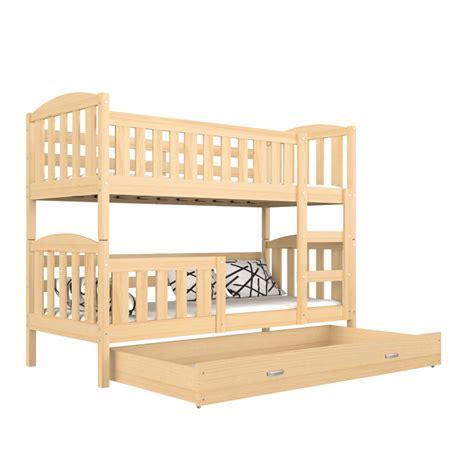 cama litera de madera cama litera de madera maciza jacob 2 con caj 243 n 180x80 cm
