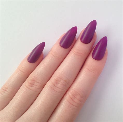 matte purple nail matte purple stiletto nails nail designs by prettylittlepolish