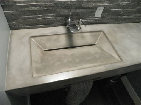 Integrated Bathroom Sink And Countertop by Integral Concrete Sinks
