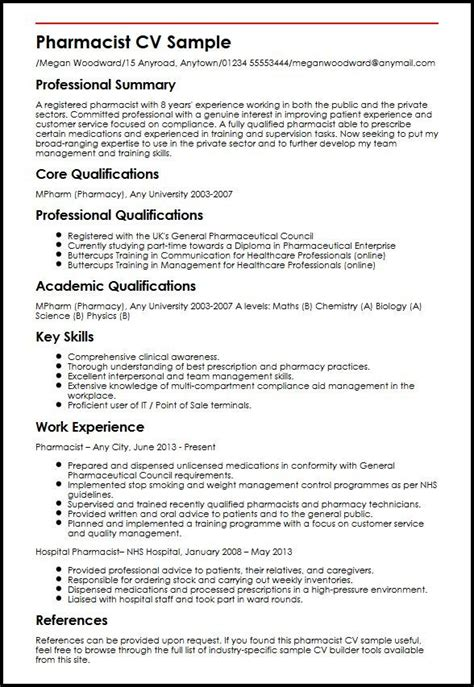Industrial Pharmacist Cover Letter by Exle Of Pharmacist Resume