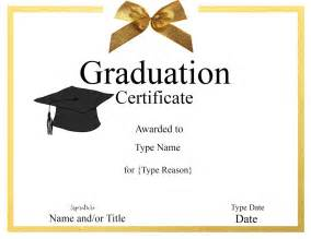graduation certificate templates graduation certificate template customize print