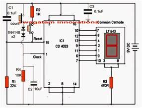 making an electronic scoreboard using ic 4033 counter