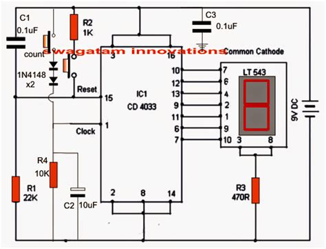 simple projects using integrated circuits an electronic scoreboard using ic 4033 counter circuit