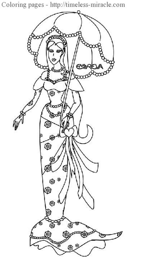 pretty princess coloring pages