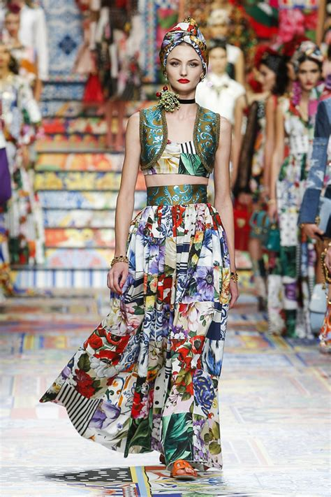 dolce gabbana  il patchwork  sicilia fashionpressit