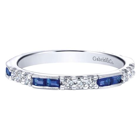 gabriel  engagement rings  white gold sapphire