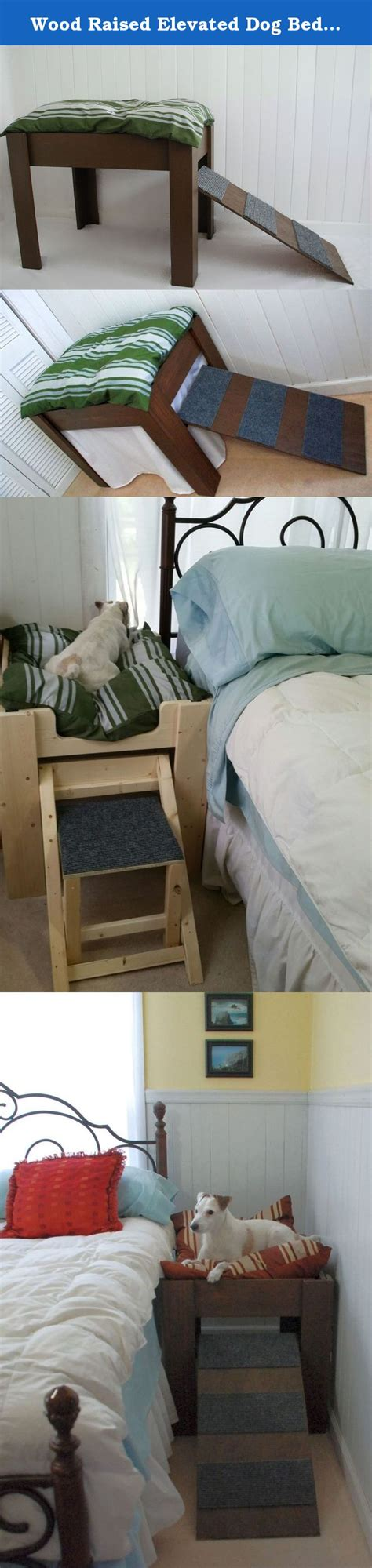 my next puppy wood raised elevated bed furniture put your pet next to you beds and costumes
