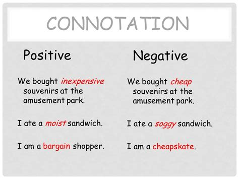 connotation exles definition types