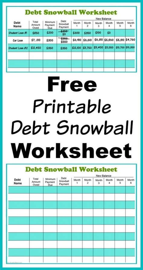 budget template to pay debt the ultimate list of budgeting printables from