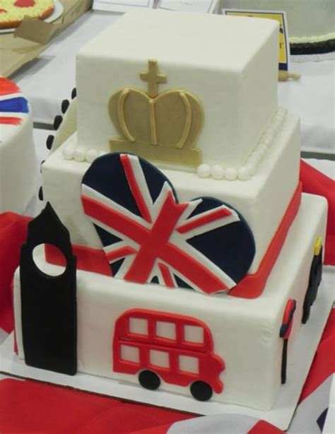 themed birthday cakes uk 3 tier british uk theme square cake jpg 1 comment
