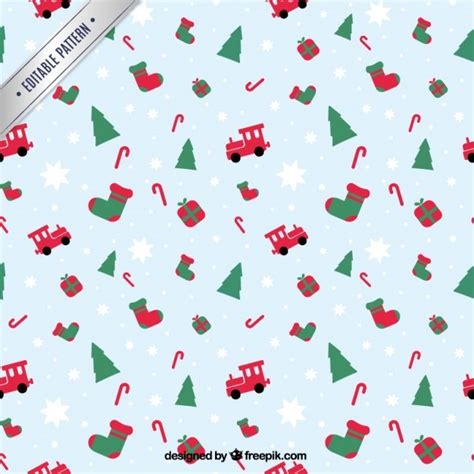 cute christmas pattern christmas pattern in cute style vector premium download