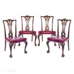 chippendale möbel set of four chippendale style mahogany chairs antiques atlas
