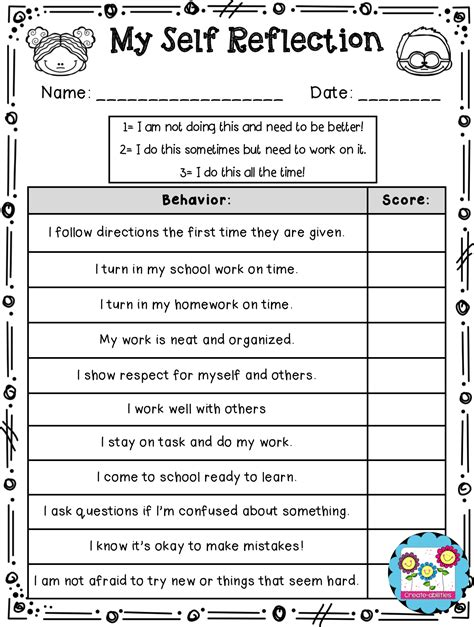 student self evaluation templates evaluation student self evaluation form