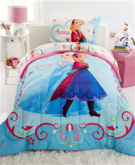 macys kids bedding disney frozen springtime floral twin full comforter kids