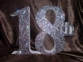 40th Birthday Decoration Ideas Glitter Birthday Numbers