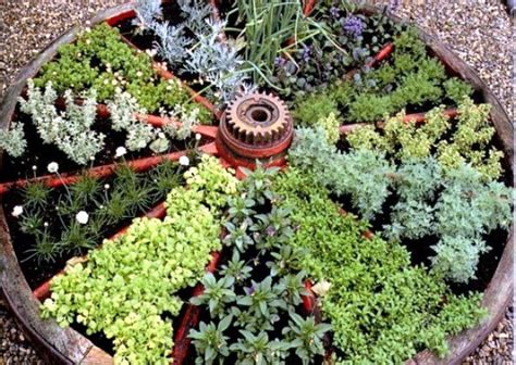 Herb Wheel Planter by Two And A Farm Wagon Wheel Herb Garden