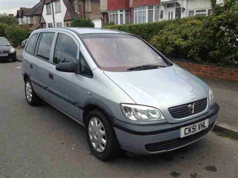 vauxhall grey vauxhall 2002 zafira 16v grey car for sale