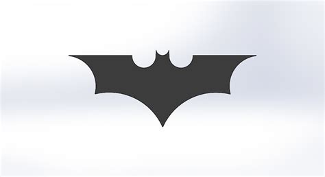 Batman Logo 1 3d printed batman logo 1 by aoyou3d pinshape