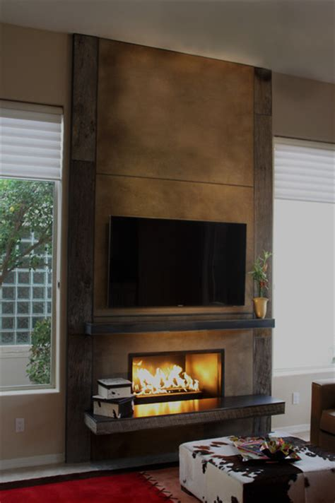 Using A Wood Fireplace by Fireplace Using Barn Wood From Porter Barn Wood Concrete