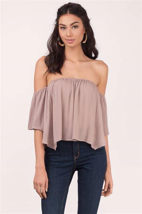 Top Blouse white blouse shoulder blouse 50 00