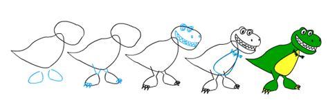 Drawing T Rex Step By Step by Sosyal Tavuk Dinazor Nasıl 199 Izilir