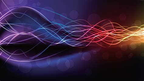 wallpapers colors ultra hd uhd abstract glowing lines with rainbow colors background
