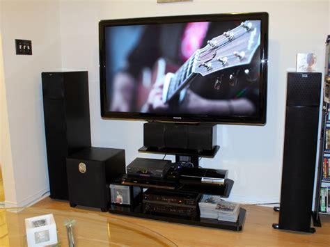 tv stand  accommodates center speaker avs forum