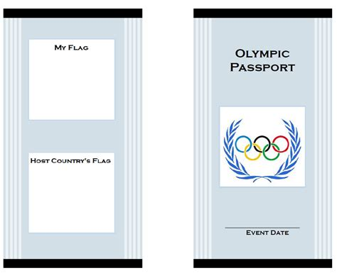 olympics for kids printable passport with learning