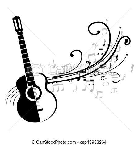 imagenes para logos musicales guitarra ac 250 stico notas musical notas ilustraci 243 n