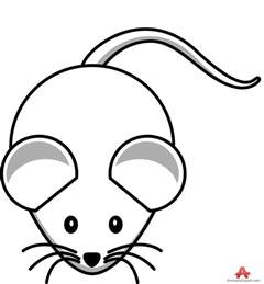 cute mouse computer drawing clipart
