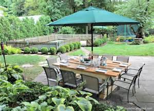 diy outdoor table diy backyard ideas 9 creative ways