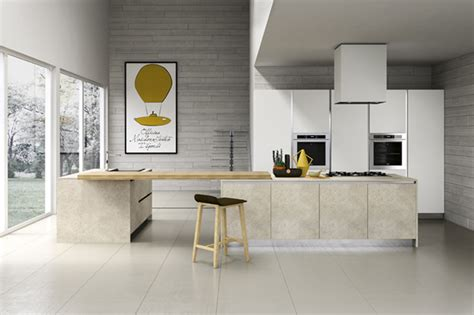 Special Kitchen Designs Kitchen Gray Exposed Brick Concrete Wall Also Kitchen Island Breakfast Bar Plus Wooden Bar