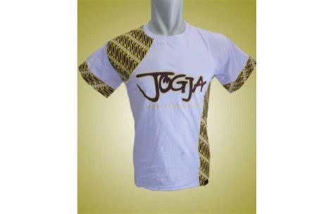 Baju Kaos Jogja kaos batik khas yogyakarta putih toko batik jogja