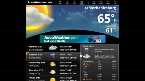 accuweather app for android accuweather for sony tablet p android apps on play