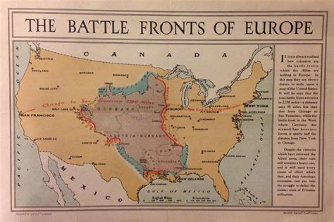 us map superimposed on europe the battle fronts of europe in 1917 superimposed the