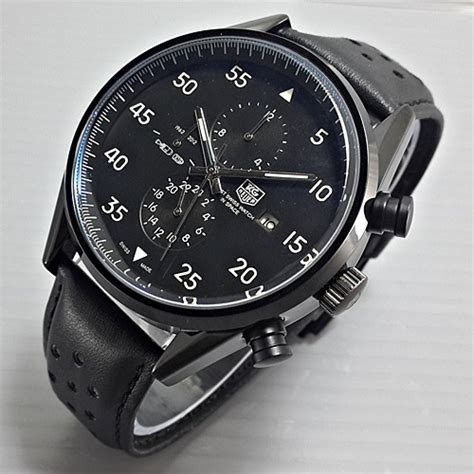 Jam Tangan Tagheuer Chrono Leather jam tangan tag heuer space leather black galeri jam