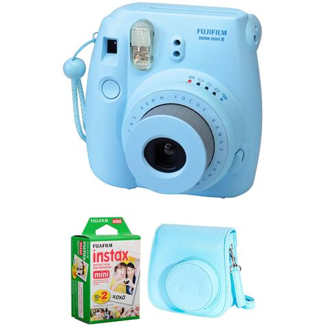 fujifilm instax mini 8 instant blue fujifilm instax mini 8 instant basic kit blue