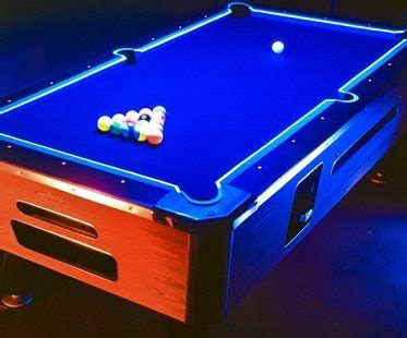Blacklight Pool Table by Glow In The Pool Table Kit