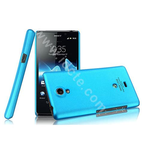 Imak Colorfull Ultra Thin Sony Xperia L C2105 buy wholesale imak ultrathin matte color cover for sony ericsson lt30p xperia t blue