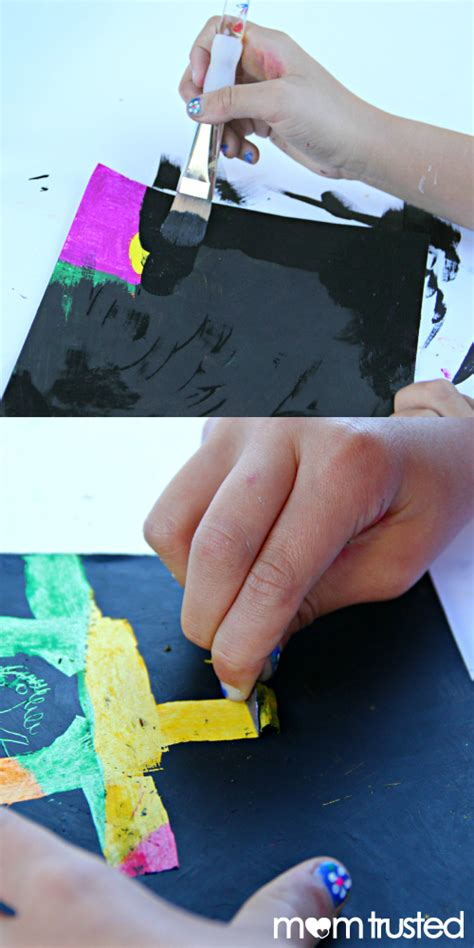 Make Your Own Scratch Paper - diy scratch artpreschool activities and printables